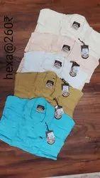 Collar Neck Mens Fancy Plain Casual Cotton Shirt, Machine wash, Size: 38-42