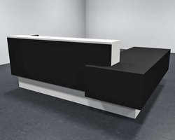 Black Reception Office Table.