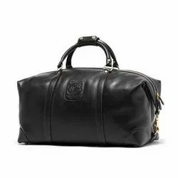 RS Leather Leather Black Duffle Bag