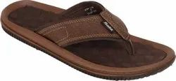 Daily Wear PU Bata Men Formal Brown Flip Flops Slipper, Size: 6 To 10