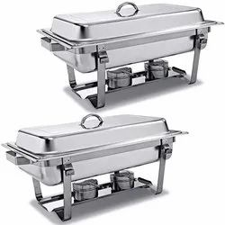 Rectangle Crystal Lag Chafing Dish