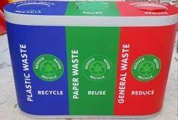 FRP Trio Recycle Bin