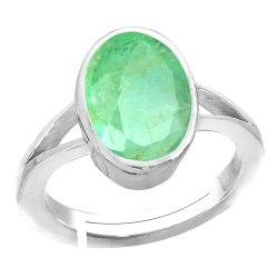 Emerald Ring For Women Silver Gemstone