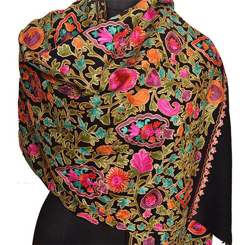 19f5e57762 GN Handloom Cotton Embroidered Kashmiri Shawl, Rs 70 /piece | ID ...