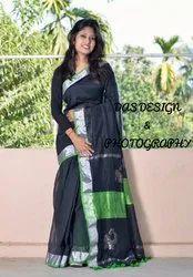 Ladies Handloom Designer  Cotton  Saree