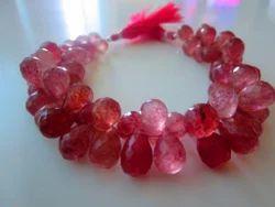 Strawberry Quartz Gemstone Teardrops