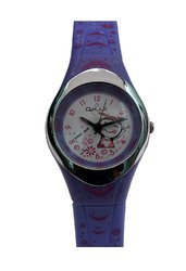 Omax Analog Purple Dial Children''s Watch - KD117