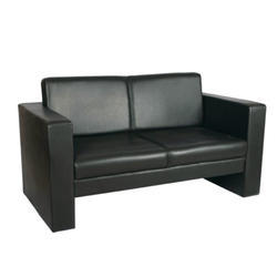Black Two Seater Waiting Sofa
