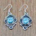 925 Sterling Silver Turquoise Gemstone Handmade Earring WE-6003