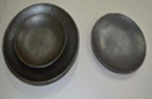 black stone serving plate at rs 950 set ceramic plates id