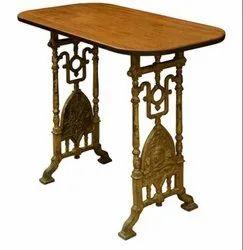 Wooden Top Vintage Industrial Table DIF-1426