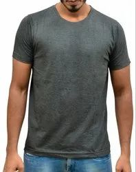 Mens Round Neck Charcoal Colour T Shirts