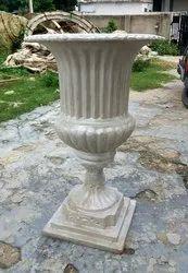 Fiber White Wedding Flower Pot