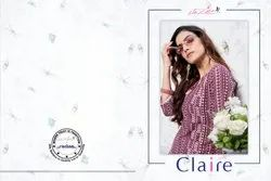 Claire-Sinzara New Designer Cotton-Linen Printed Kurtis With Palazzo Collection