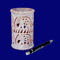 Soapstone Carving Work Pen Stand