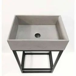 Grey Fancy Table Top Concrete Wash Basin, For Bathroom