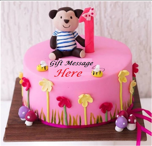 Amazing First Birthday Cake Fancy Cakes Expressluv In Hyderabad Id Personalised Birthday Cards Veneteletsinfo