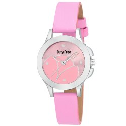 Pink Round Ladies Watch