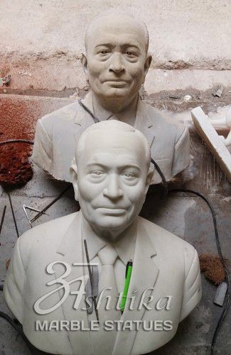Human Marble Bust Statue