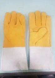 Plain Men Leather Hand Gloves, Size: 13-14 inch