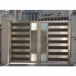 Silver Modern SS Gate