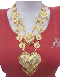 Boho Belly Dance Pretty Gold Plated Long Chain Pendent Necklace