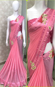 Heavy Georgette Pink Saree