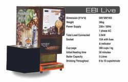 Live Tea & Coffee Vending Machine for Rent