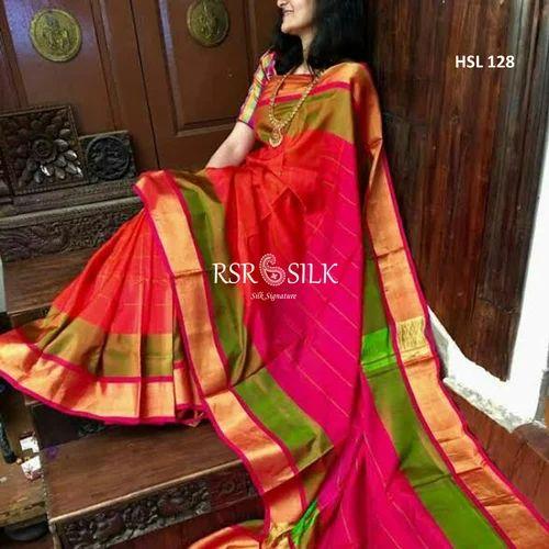 f001ee98061 Kancheepuram Silk Festive Wear Uppada Soft Silk Saree