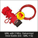 Universal Valve Lockout With Cable