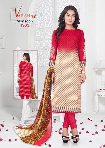 489231a212 Formal Wear Multicolor Printed Synthetic Salwar Suit, Rs 350 /piece ...