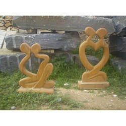 Heart Shape Stone Sculpture