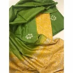 Casual Wear Printed Ladies Cotton Fancy Saree, 6.5 m with blouse piece