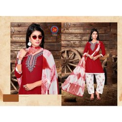 Lizi Stitched Ladies Cotton Designer Suit Salwar, Handwash