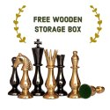 Brass Classical Gold Chess Pieces Set
