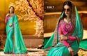 Silk Georgette Embroidered Wedding Wear Saree