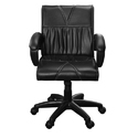 Black Leatherette Windsor Executive Chair