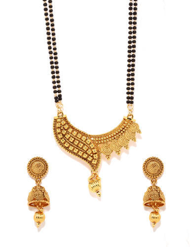 Mangalsutra Long Earring Traditional Set