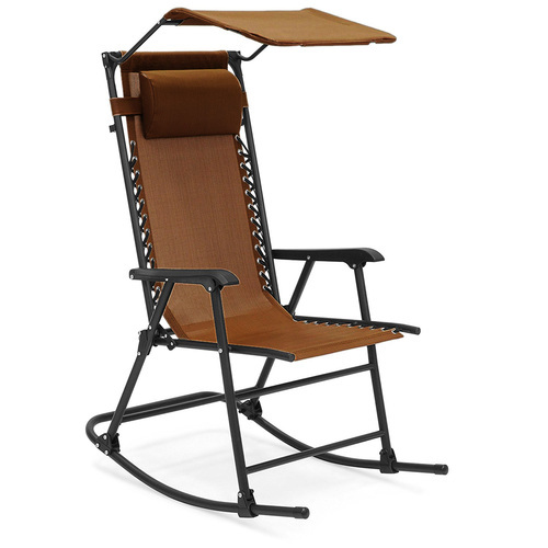 Kawachi Folding Outdoor Relax Recliner Rocking Chair With