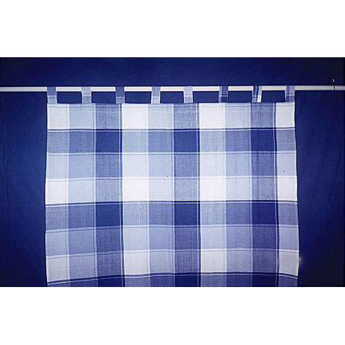 Cotton Checked Curtain