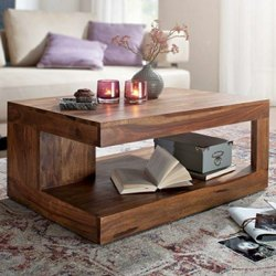 Brown Solid Wood Aspaki Center Table