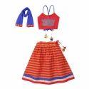 Cotton Party Wear And Festive Wear Traditional Kids Lehenga Choli