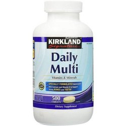 Kirkland Signature Daily Multi Vitamins & Minerals 500 Tablets, For Vitamin Deficiency