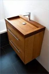 Wall Mounted Brown Wooden Wash Basin, For Bathroom, Model Name/Number: AWB01-20