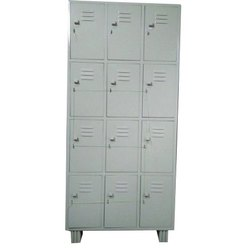 Supreme Gray Hinged Industrial Locker, Size/Dimension: 78x36x19 Inch, No Of Lockers: 12