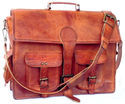 Vintage Leather Briefcase, Leather Messenger Bag, Office Bag, Executive Bag, Handmade Leather Bags