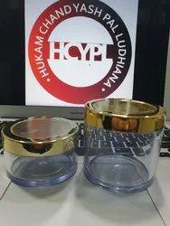 San Cream Jar with Golden Metalised Caps