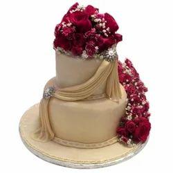 Two Layer Anniversary Cake Shaadi Ka Cake व ड ग क क