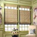 Wood Color Horizontal Bamboo Blinds - Window Covering
