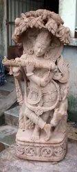 Krishna Sand Stone Statue